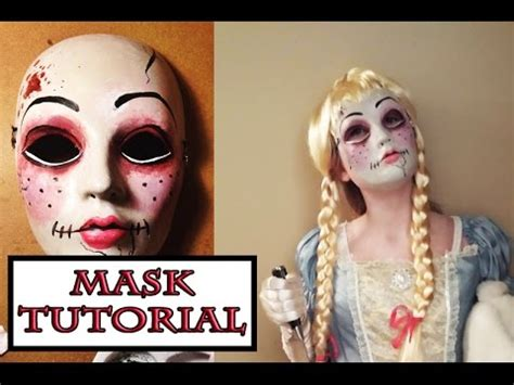 porcelain doll mask scary doll mask tutorial with paint
