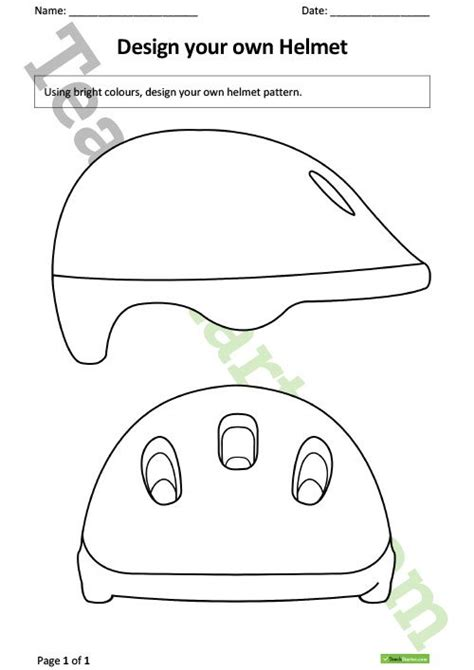 Design A Cycle Helmet Template | bike safety worksheets the best and most comprehensive