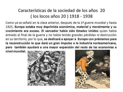 reconstruccion de europa despues de la gran guerra en pdf caracter 237 sticas de la sociedad de los a 241 os 20 los locos a 241 os 20 ppt descargar