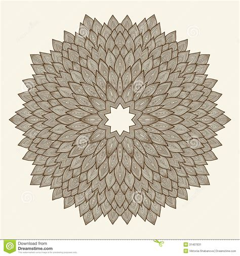 mandala beautiful hand drawn flower stock vector image