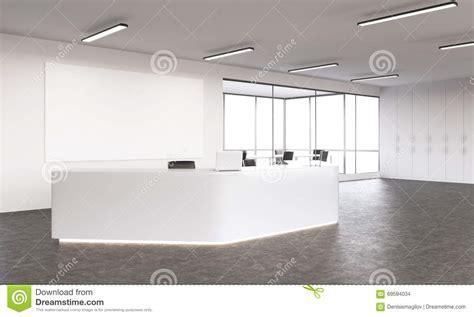 big white boards empty reception stock illustration image 69594034
