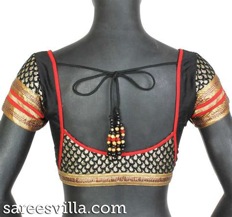 black pattern blouse stylish blouse designs sarees villa