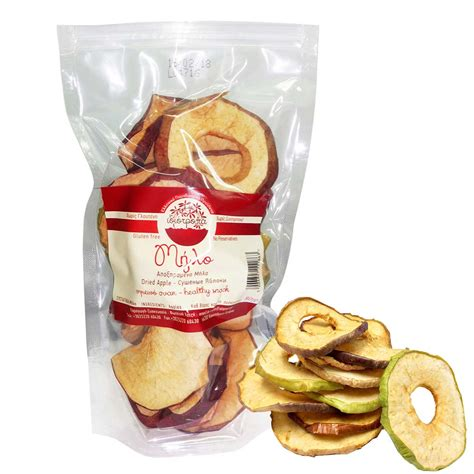 review desain kemasan dehydrated apple chips healthy snack in resealable