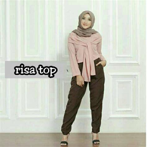 Pakaian Wanita Zara Top Atasan Wanita Promo jual risa top dusty pakaian wanita baju atasan muslim blouse muslim limited di lapak p store