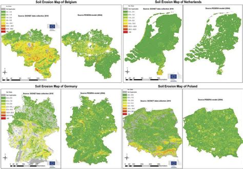 map netherlands germany soil erosion maps for belgium netherlands germany and