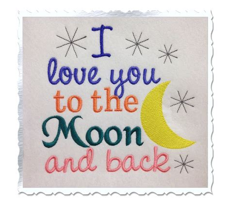 embroidery design love you to the moon and back i love you to the moon and back machine embroidery design