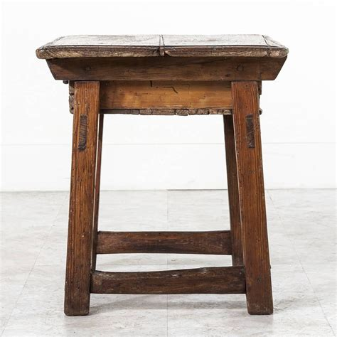 Pine Side Table 19th Century Rustic Primitive Style Pine Side Table With Drawer At 1stdibs