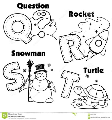 esl alphabet coloring pages english alphabet and the letters q r s and t stock