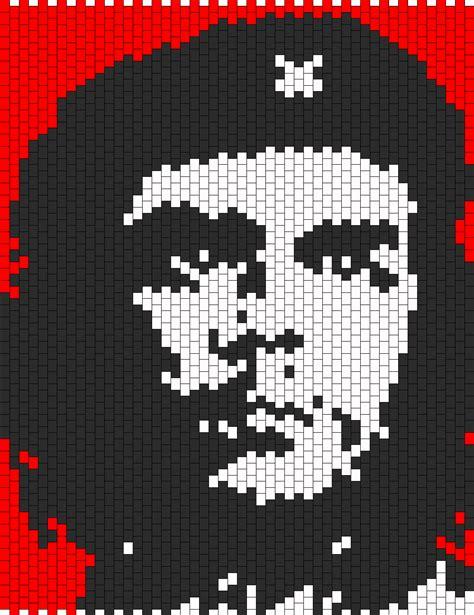 Che Guevara Pixel che guevara bead pattern peyote bead patterns