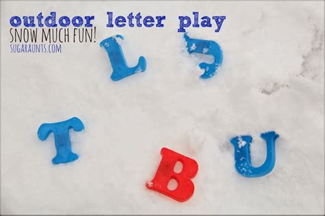 up letter to winter winter letter play activity in snow the ot toolbox