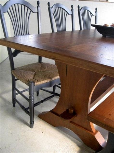 harvest style dining table harvest style trestle dining table ecustomfinishes
