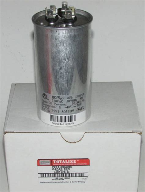 carrier air conditioner parts capacitor 80 5 mfd 370 volt bryant carrier dual round run capacitor