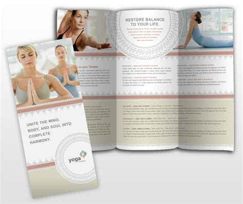 yoga pilates studio brochure templates mycreativeshop com