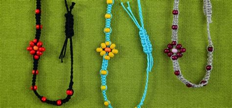 How To Make Macrame - how to make a macrame bracelet with flower 171 jewelry
