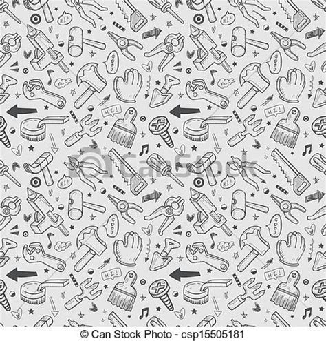 doodle tool free vector of seamless doodle tools pattern csp15505181