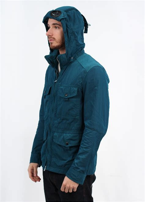 Cp Hoodie Wing Lt Sweater Babyterry cp company hooded goggle jacket petrol blue