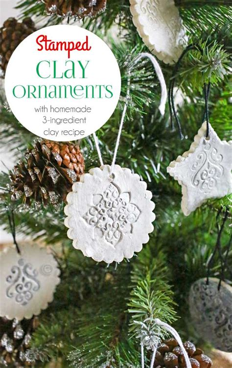 sted clay ornaments w homemade clay recipe