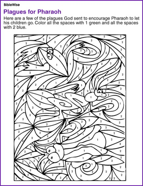 free coloring pages of moses plagues