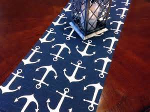 Nautical Rug Runners by Table Runner Nautical Small Anchor Table Runners Navy