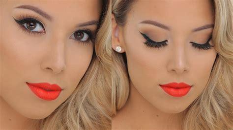 tutorial makeup lipstik orange classic glamour hot orange lips smashbox tutorial