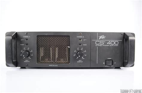 Power Lifier Peavey Cs peavey cs 400 stereo power lifier 200w 4 ohms cs400 24025 ebay