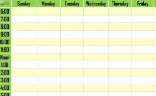 weekly daily schedule template weekly schedule template weekly timetable template