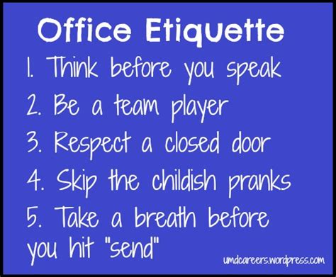 Office Etiquette Office Etiquette Part 1