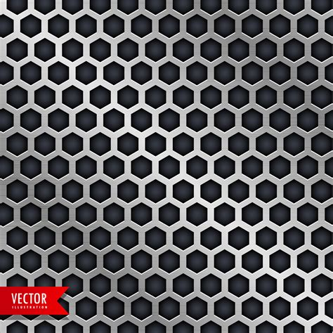 Honeycomb Pattern vector honeycomb pattern design in metallic style