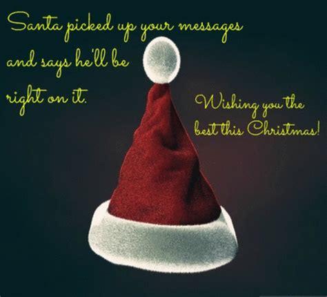 santa  picked   message  santa claus ecards