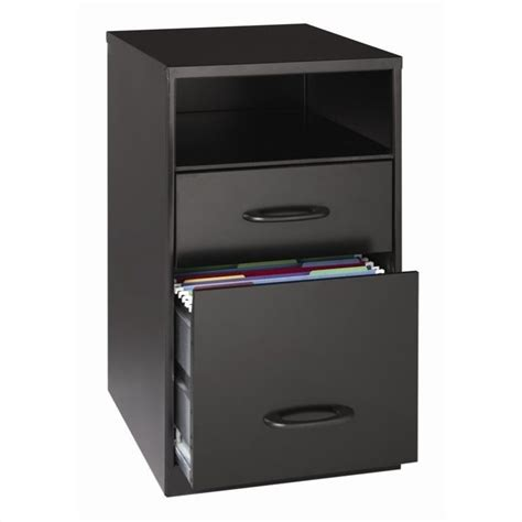 Black Drawer Cabinet 2 Drawer File Cabinet In Black 18505