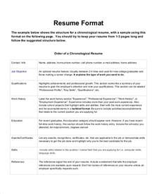 Format For A Resume Exle by Resume Format 17 Free Word Pdf Documents Free Premium Templates
