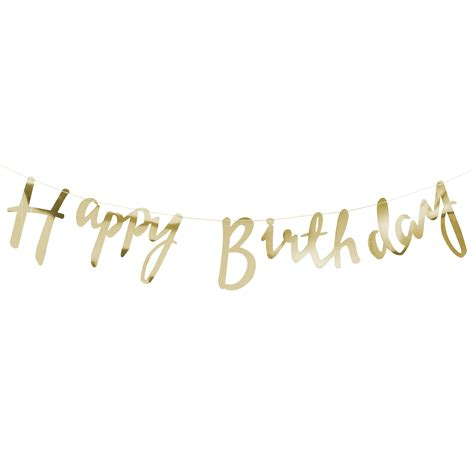 Honeycomb Home Design by Gold Script Font Happy Birthday Banner Bunting Misty