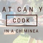 can you cook on a chiminea baking in a chiminea