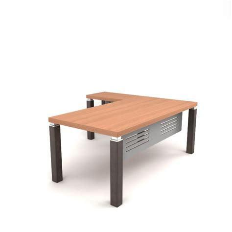 wooden l shaped desk 3d model cgtrader