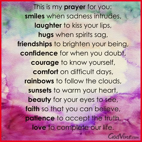 comfort for you my prayer for you
