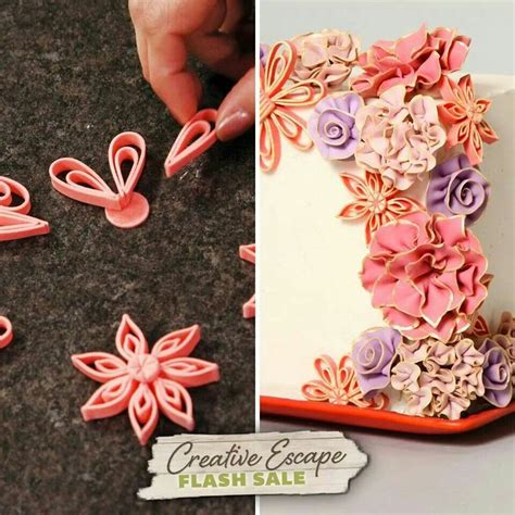 tutorial for quilling fondant 48 best images about quilling cakes on pinterest fondant