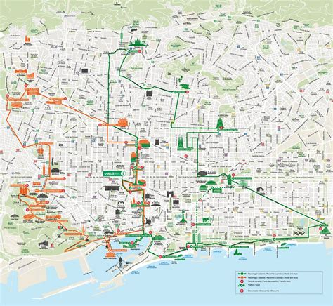barcelona hop on hop off map of barcelona tourist attractions sightseeing
