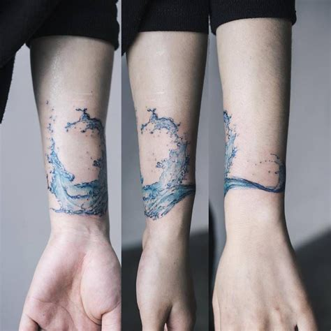 tattoos and scars scar cover on a water splash on the left inner