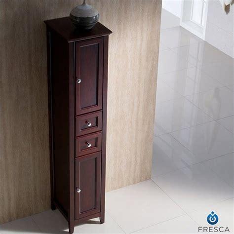 tall bathroom linen cabinets fresca oxford tall bathroom linen cabinet in mahogany
