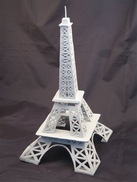 How To Make A Skyscraper Out Of Paper - styrofoam eiffel tower by paper panda on deviantart