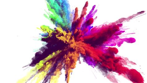 color powder explosion cg animation of powder explosion with blue and yellow