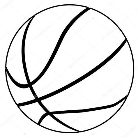 clipart bianco e nero pallacanestro in bianco e nero vettoriali stock