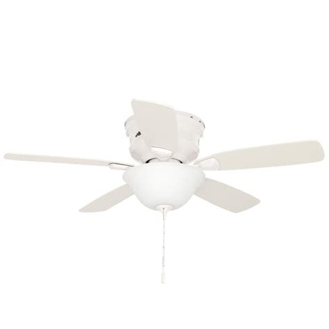 low profile white ceiling fan with light low profile 48 in indoor white ceiling fan with