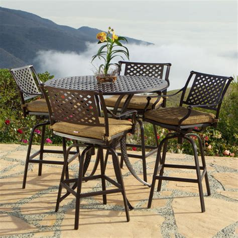 Superb High Patio Dining Set 3 5 Piece Patio High Dining High Patio Dining Set