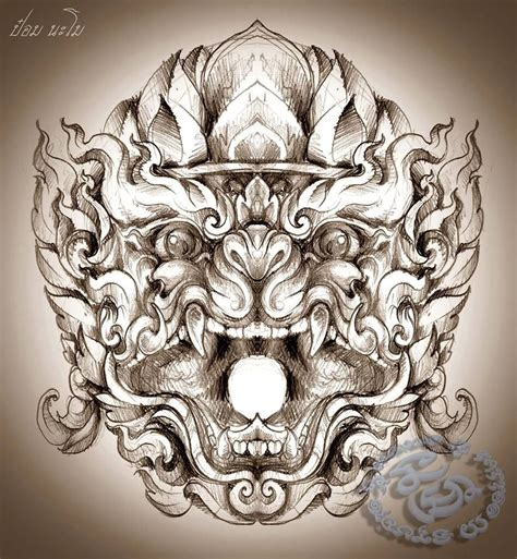 thai buddha tattoo designs หน มาน thai and hanuman