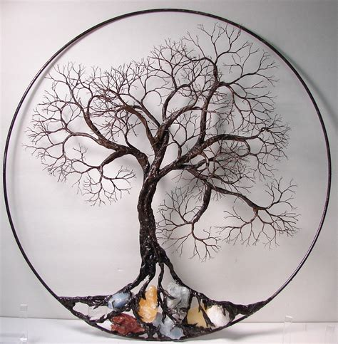 wire tree wall hanging home decor wire tree of life ancient spirit sculpture with natural