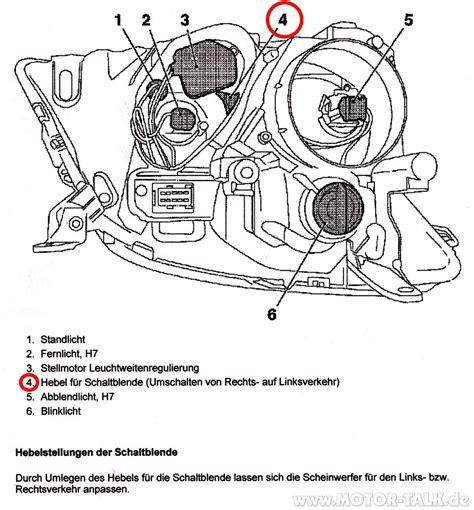 Motorrad Scheinwerfer F R England Abkleben by Mit Hebel Scheinwerfer F 252 R Gb Einstellen Opel Vectra