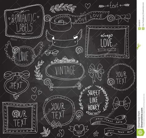 vintage chalkboard labels set vector stock vector image