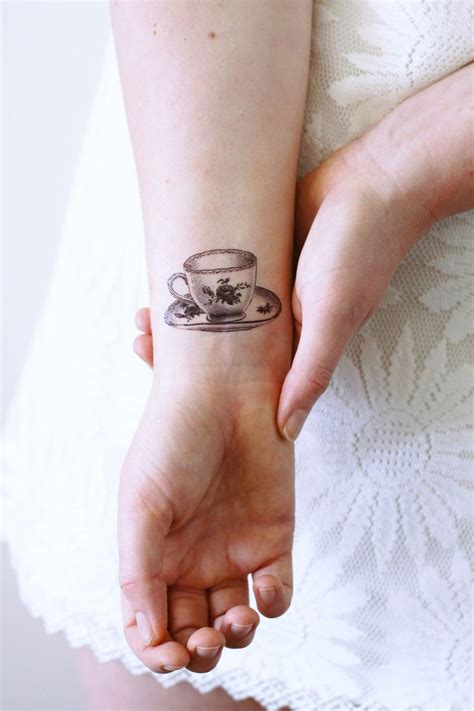 tattoo lover gift ideas small teacup temporary tattoo tea temporary tattoo tea