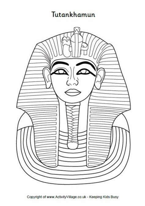 coloring pages king tut king tut coloring page home sketch coloring page